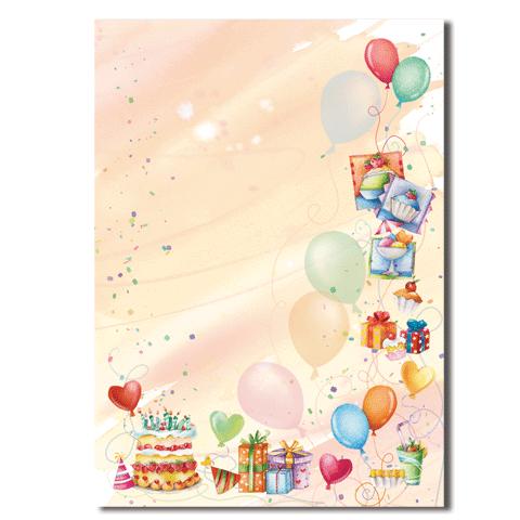 Оформление листа для поздравления с днем рождения
